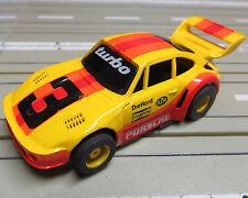 Modellino Pista Per Slot Car Porsche Turbo con Tyco Motore