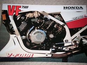 HONDA-VF750F-VF-750F-SALES-BROCHURE-PROSPEKT-RARE-HONDA-VF750F