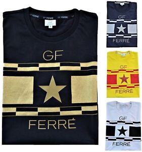 T-Shirt-Maglietta-Gianfranco-Ferre-Uomo-Maniche-Corte-Girocollo-Men-T-Shirt-Crew