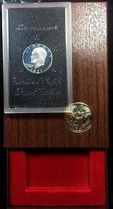 1971-S-Eisenhower-Ike-SILVER-Proof-Dollar
