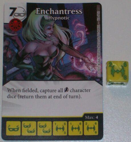 ENCHANTRESS HYPNOTIC 112//142 Age Of Ultron Dice Masters Rare
