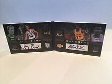 Panini 2011 Booklet Larry Bird Magic Johnson Auto All-Time Matchups 9/10