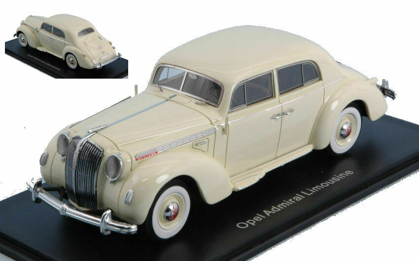 Opel  admiral limousine 1938 blanc 1 43 model neo scale models  acheter pas cher