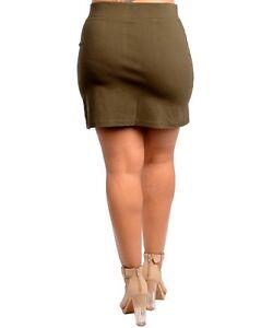 Xl 2xl taglia minigonna 5 lavoro donna 3xl Carriera verde nero oliva Lotto Plus casual 7PFqxwF