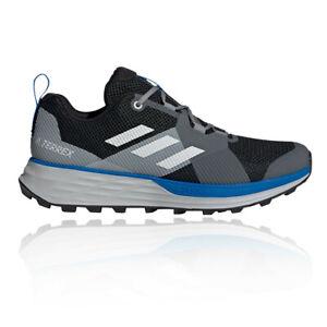 Adidas Mens Terrex deux Trail Chaussures De Course Baskets Sneakers Gris-Sports
