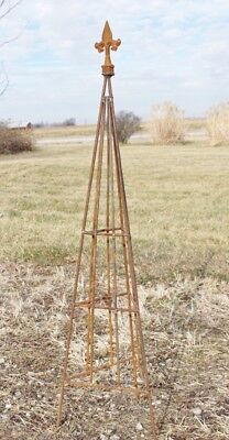 """5 Sizes Plant Support 23/"""" Wrought Iron Triangle Topiary with Ball Top Trellis"""
