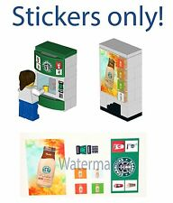 Lego Custom Starbucks Vending Machine 10185 10182 Instructions Stickers
