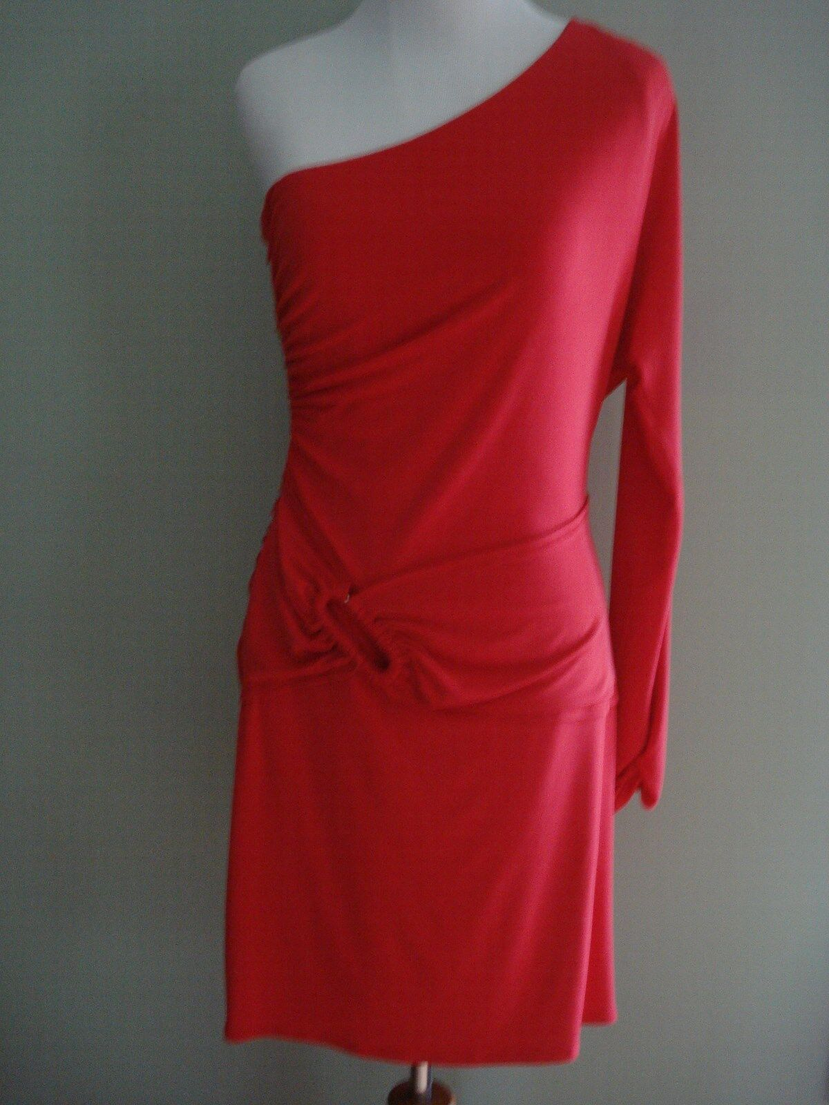 Laundry by Shelli Segal Red One Shoulder Dress Size 8