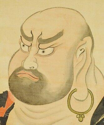 """Bright Japanische Malerei Aufhängbare Rollen 82 """" Dharma Alte Kunst Japan Antik Vintage Other Asian Antiques Antiques"""