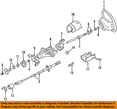 85 steering column wiring diagram ford truck ford oem steering column bearing f4dz3517b ebay  ford oem steering column bearing