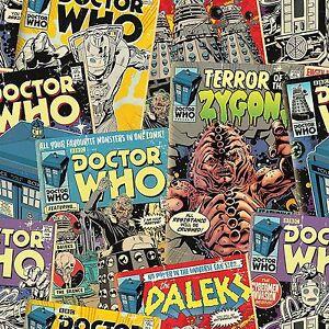 Image Is Loading Doctor Who Comics 10m Wallpaper Kids Bedroom Wall