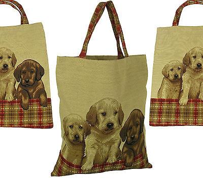 """Gobelin Tasche Einkaufstasche Sporttasche Shopper """"Drei junge Hunde"""""""