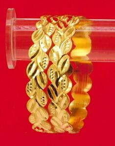 Indian-Bollywood-Gold-plated-Ethnic-2Pcs-Kada-Bangles-Set-Women-Jewelry-Bsv18