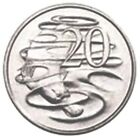 2014 Uncirculated Australia Twenty 20 Cent 20c Platypus Coin