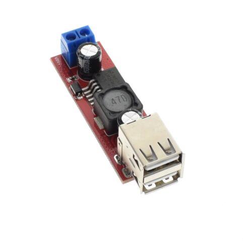 2pcs Dual USB LM2596 6V-40V To 5V 3A Double USB Charge DC-DC Step Down Converter