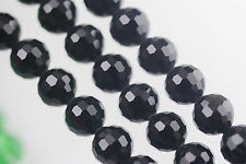 50pcs Black Glass Crystal 96Faceted Round Beads 8mm Spacer Jewelry Findings