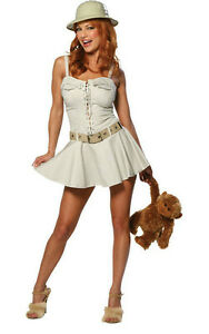 Image is loading Safari-Girl-Jungle-Desert-Hunter-Cute-Dress-Up-  sc 1 st  eBay & Safari Girl Jungle Desert Hunter Cute Dress Up Sexy Adult Halloween ...