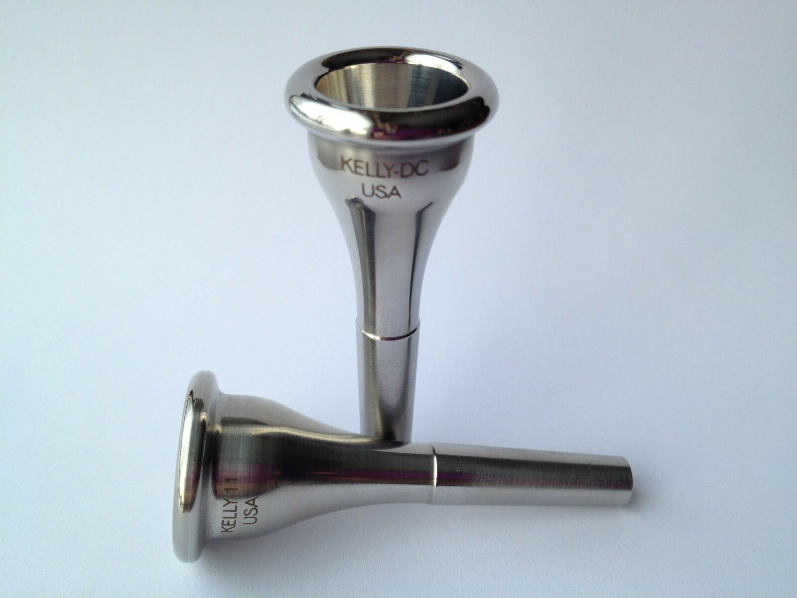 Stainless-steel   KELLY-MDC French horn mpc   Medium-deep   KELLY Mouthpieces