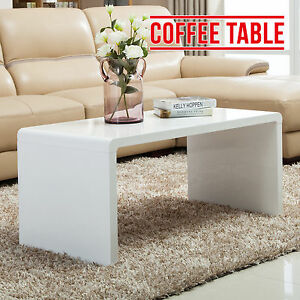 Bn modern high gloss white coffee table side end table for High end coffee tables living room