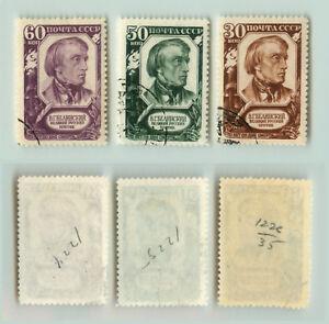 La-Russie-URSS-1948-SC-1224-1227-utilisee-rt9924