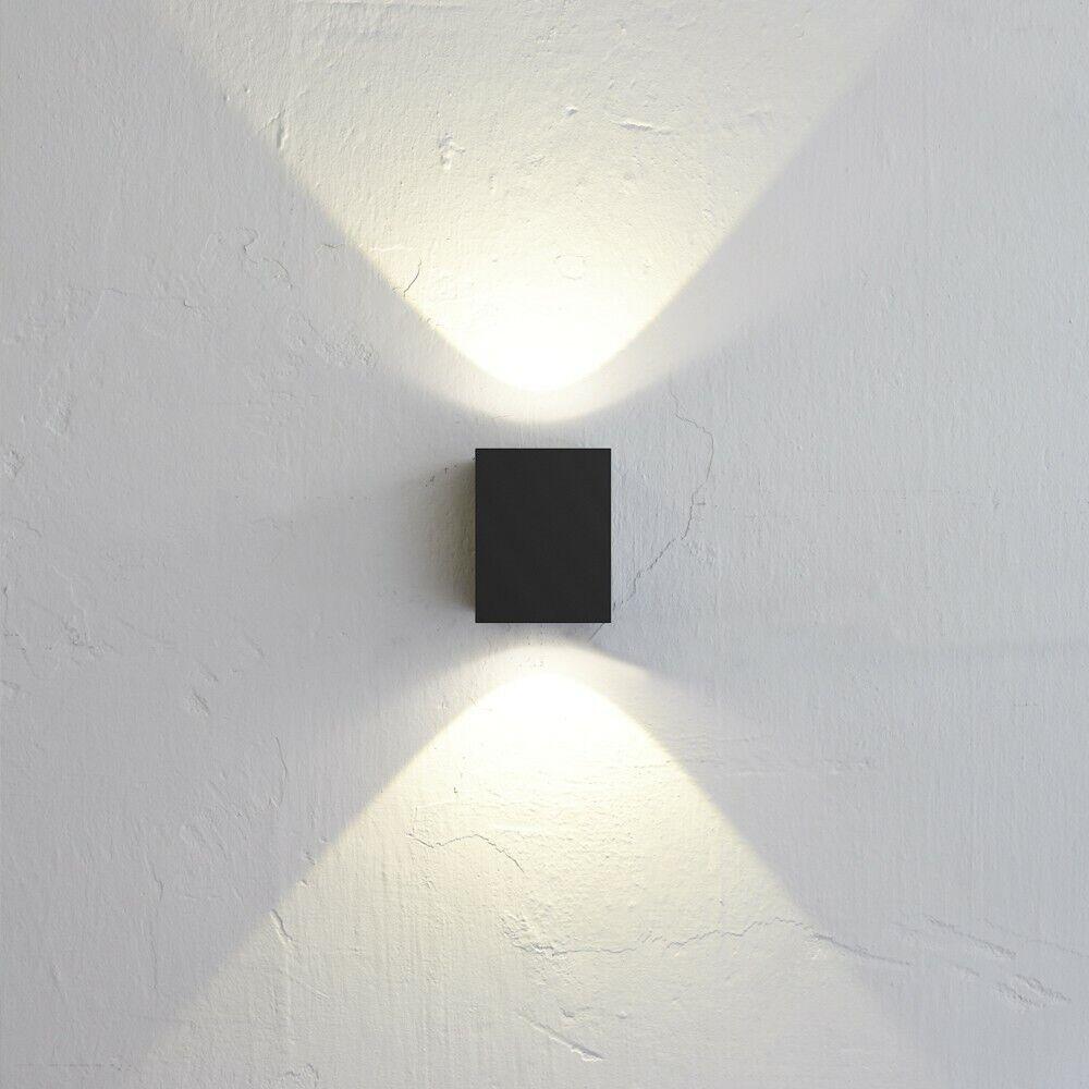 Nordlux Canto Kubi LED-Aussen-Wandleuchte Schwarz Wandlampe Aussen