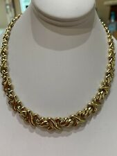 """14K Polished Yellow Gold /""""XO/"""" Hugs and Kisses on a Delicate Dainty Necklace"""