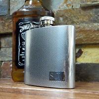 Personalized Textured Flask-Monogrammed-Engraved-Groomsmen-Stainless Steel(118)