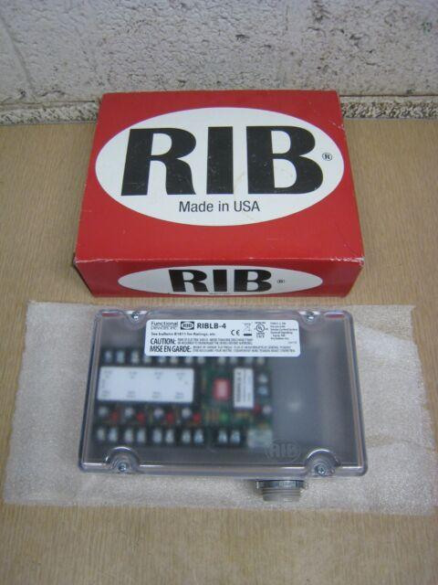 New RIB RIBLB-4 Enclosed 4-Input 24V Fan Safety Alarm ...