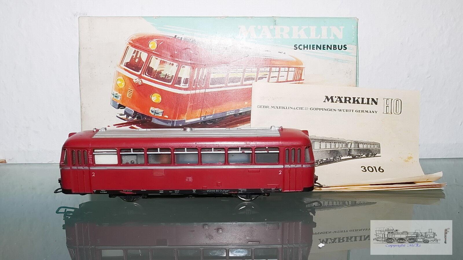 3016 , Ferrobús VT 95 9189 Ferrobús de Db para Escala H0, con Caja Orig.