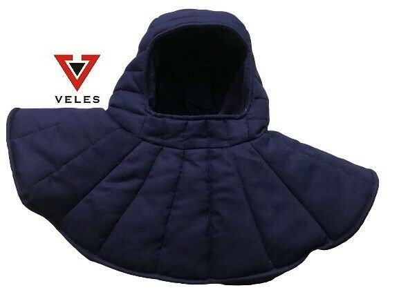 Medieval Gambeson Hood /Cap Nevy Blue Color Armour Thick Padded SCA LARP