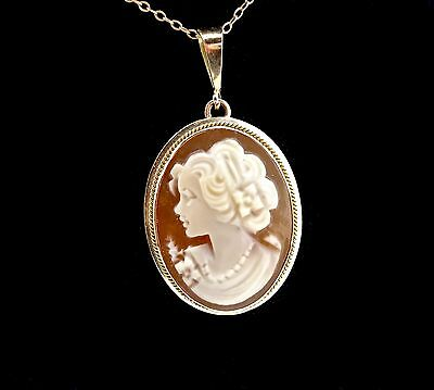 Cameo jewelry italy is best collection on ebay vintage italian 14k gold carved shell portrait cameo pendant78 aloadofball Image collections