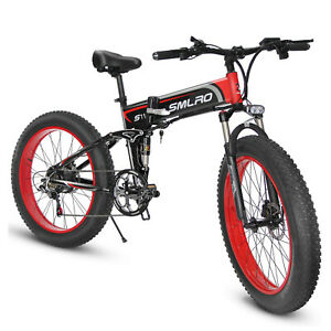 Electric-Fat-tire-26-inch-folding-assist-mountain-bike-full-shock-absorption-4-0