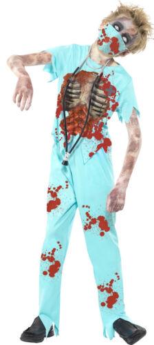 Zombie Evil Surgeon Doctor Boys Kids Childs Halloween Fancy Dress Costume 7-14
