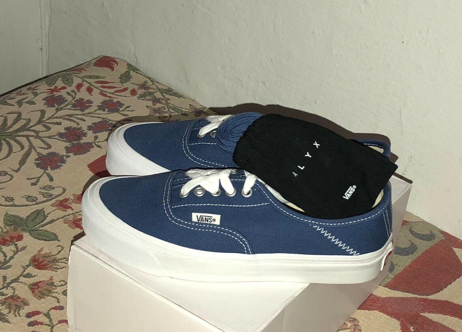 Vans Vault ALYX ALYX ALYX OG Style 43 LX True bluee White Sz 7 Mens = 8.5 Women's Brand New 914c80