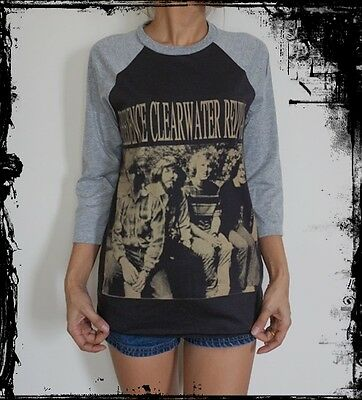 Unisex Creedence Clearwater Revival Raglan 3/4 Sleeve T-Shirt  Sweater S M L XL