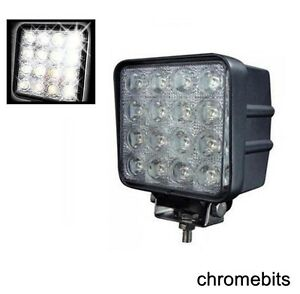 2X-48W-Carre-LED-12V-24V-Travail-Phare-Anti-Brouillard-Lampes-Hors-Route-Jeep