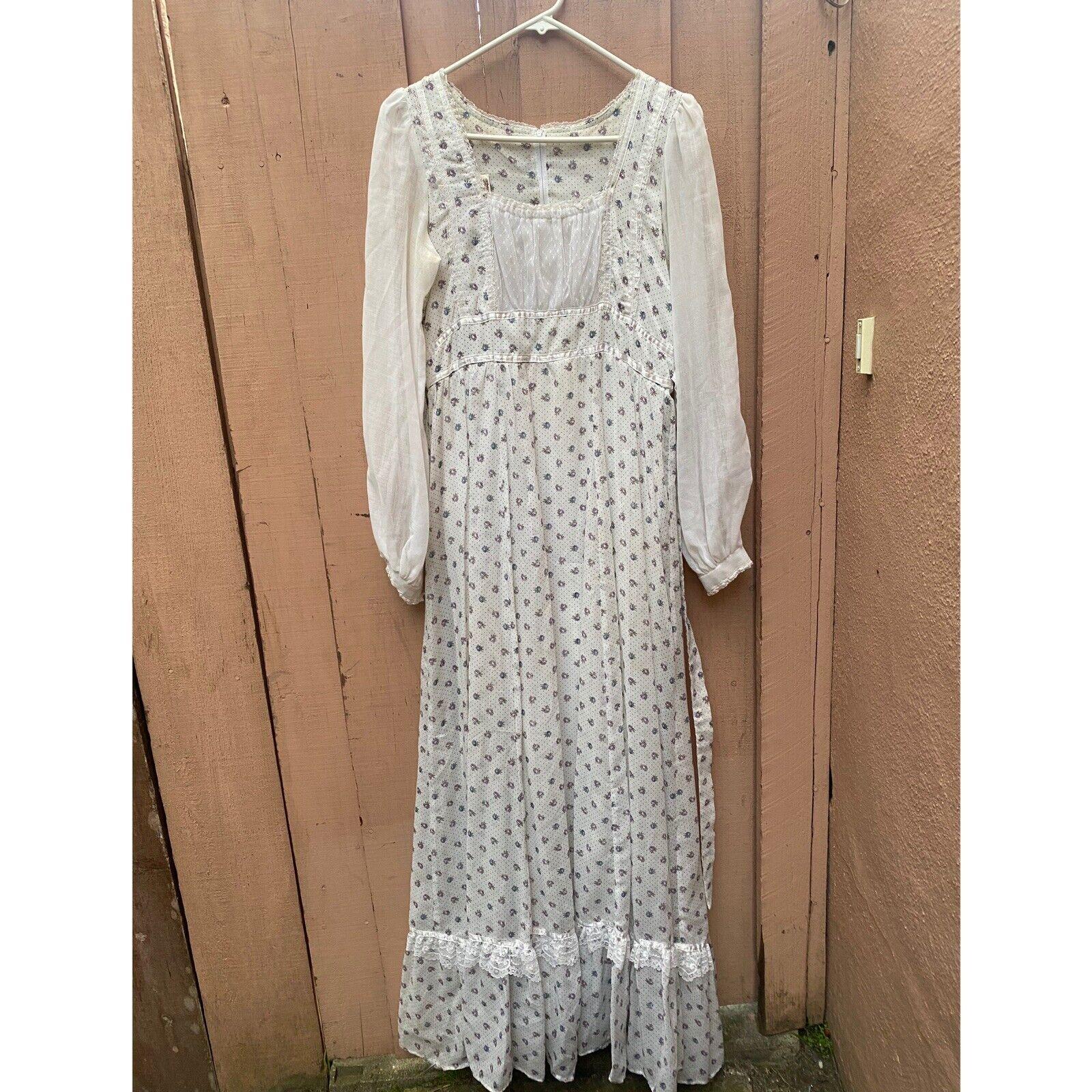 1970's Gunne Sax Prairie Cottage Core Dress - image 8