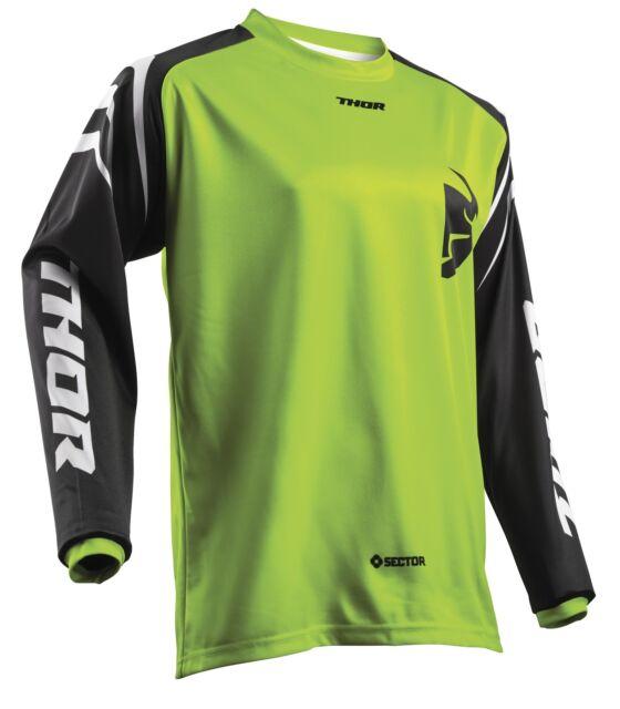Thor Jeunesse secteur zones JERSEY MOTOCROSS ENDURO tricot maillot chemise vert