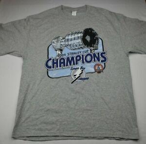 Vintage-Tampa-Bay-Lightning-2004-NHL-Stanley-Cup-Champions-T-Shirt-XL-Lee-Sport