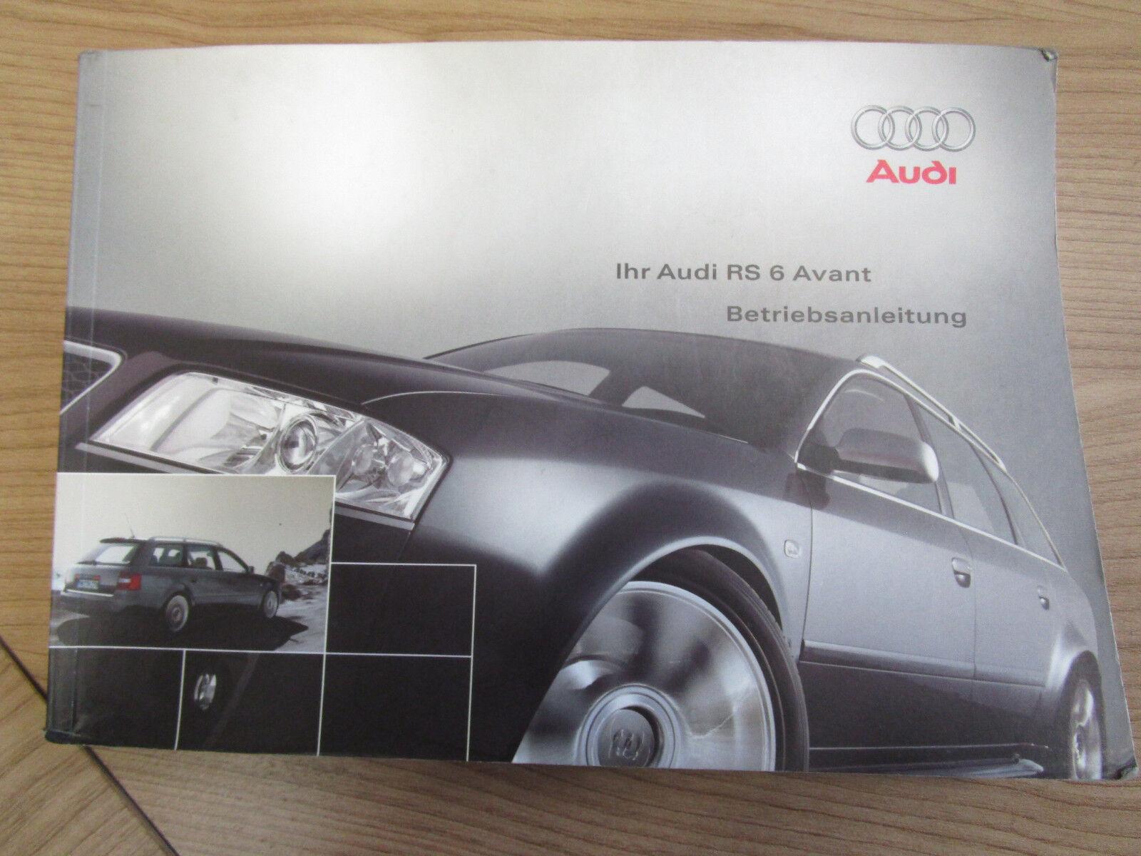 Betriebsanleitung Bedienungsanleitung AUDI RS6 4B 4.2 V8 quattro 2315614R500