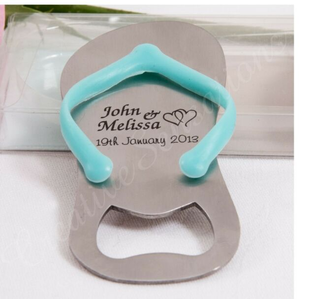Personalised Gift Boxed Thong Bottle Opener Beach Wedding Favour Bomboniere