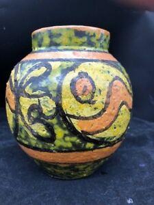 Mid-Century Modern Italian Fish Shaped Hand Painted Pottery Art Dish by Maxim