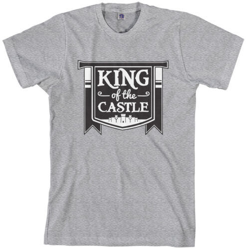 Threadrock Men/'s King of the Castle T-shirt Funny Dad Fathers Day