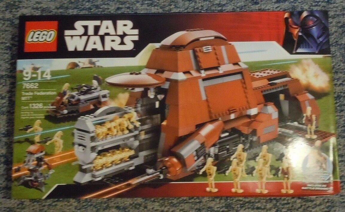 LEGO STAR WARS Trade Federation MTT Set 7662 Nuovo Sealed 20 Battle Droid Minifigs
