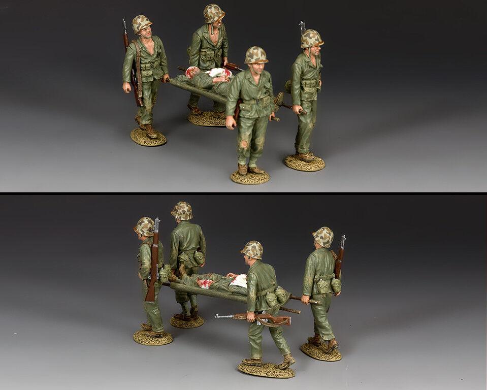 KING & COUNTRY U.S.M.C. USMC025 U.S. MARINE STRETCHER PARTY MIB