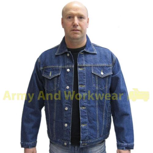 Giacca in denim Tough Heavy Duty Classico Stile Western Uomo Casual Look Vintage Nuovo