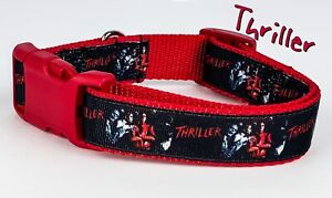 "Mickey Mouse dog collar handmade adjustable buckle collar 1/""wide or leash Disney"