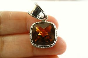 Cushion-Cut-Golden-Yellow-Citrine-Solitaire-925-Sterling-Silver-Pendant