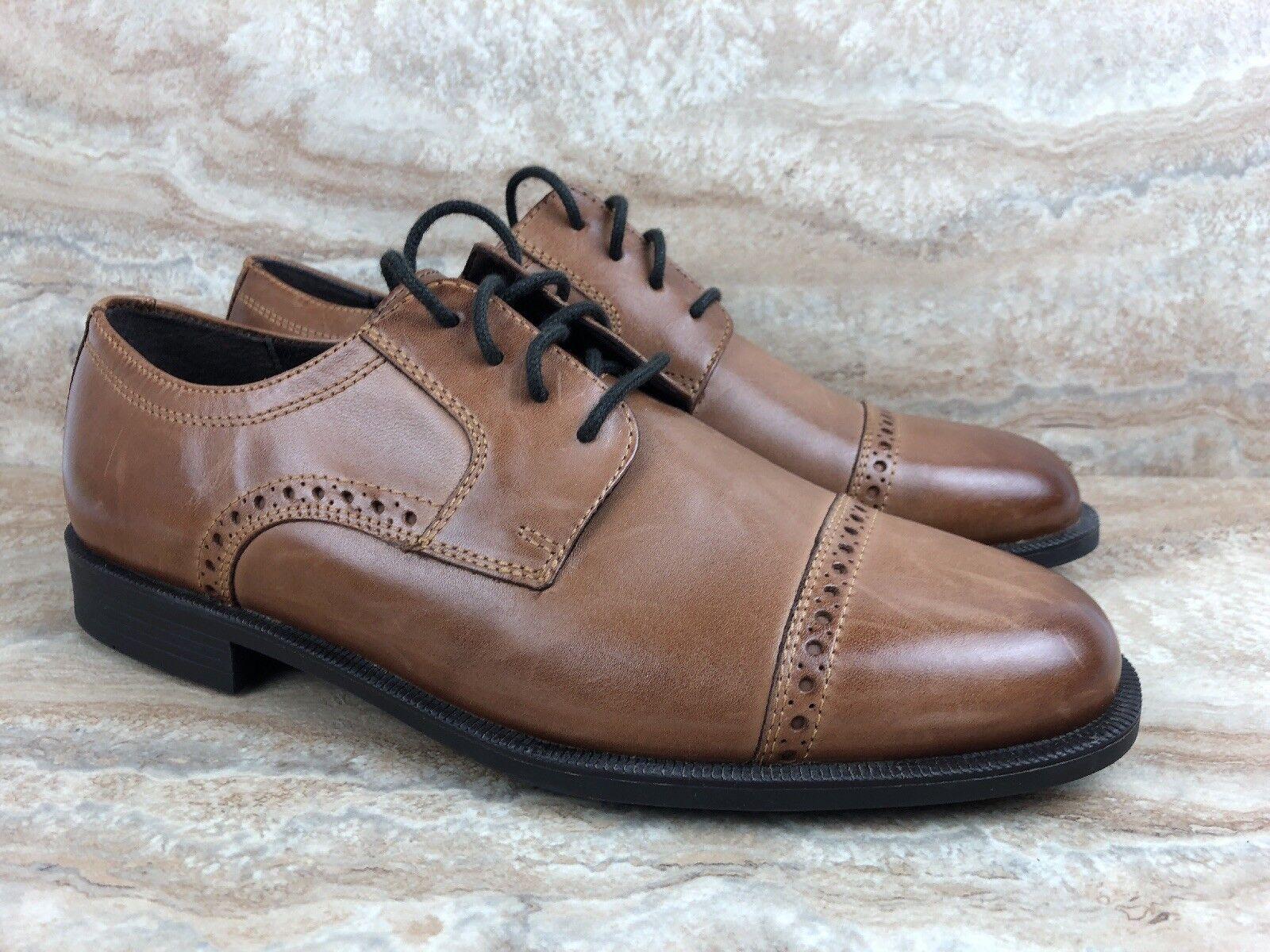 69d3d5fc1dd5f6 Cole Haan Size 8.5 8.5 8.5 M Dustin Cap Brogue Oxford Tan Leather Dress  shoes f4f3ac ...