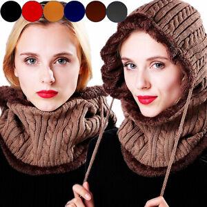 fcb5dd538a8 Women Men Winter Warm Crochet Knit Slouchy Beanie Beret Scarf Wrap ...